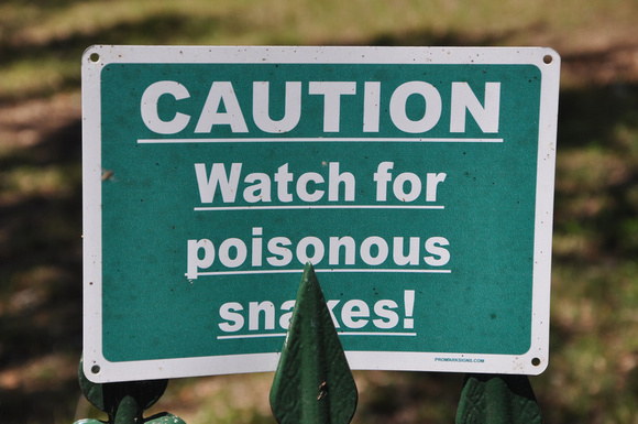 CAUTION Watch for poisonous snakes!SchulenburgFayette County, Texas29 38.472' N96 53.238' W