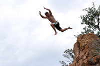 Jumping at Devil's Waterhole