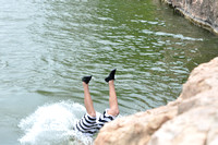 Jumping at Devil's Waterhole 0020
