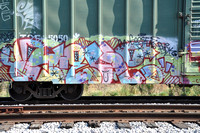 Train Graffiti - Austin Texas - 10-23-11
