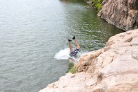 Jumping at Devil's Waterhole 0017