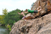 Jumping at Devil's Waterhole 0010